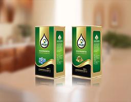 依田亚麻籽油包装设计